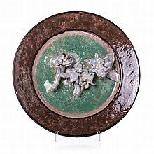 JORGE BARRADAS (1894-1971) - Figurative plate with 'roses'