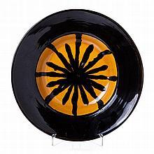 JOSÉ AURÉLIO (n.1938) - Modernist plate in faience from Secla