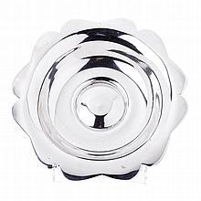 Silver Art Deco fruit bowl