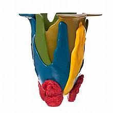GAETANO PESCE (n.1939) -  Amazon vase