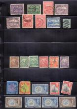 STAMPS : Commonwealth accumulation mint and used on stock pages, including many 1953 coronation stamps, condition mixed in places, but some better stamps noted.
