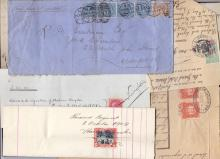 Insurance documents , small accumulation of receipts with stamps used as the fees. Plus a New Zealand cover 1875 (7 items)