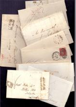GREAT BRITAIN POSTAL HISTORY : KENT, selection of 17 entires or part entires all with Maidstone handstamps, either pre-stamp, pre-paid or with 1d reds. Some useful items inc ''Maidstone/Penny Post'' handstamp. (17)