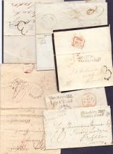 GREAT BRITAIN POSTAL HISTORY : KENT, selection of envelopes all with Shooters Hill postmarks & handstamps, inc 1839 wrapper with ''New Romney/Penny Post'' & ''Shooters Hill/Penny Post'' handstamps. (6 items)