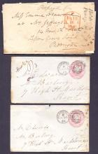 GREAT BRITAIN POSTAL HISTORY : KENT, three covers from Sevenoaks inc 1840 entire with ''Halstead/Penny Post'' handstamp