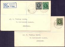 GREAT BRITAIN FIRST DAY COVER : 1935 GV 4d and 9d photogravure on matched pair of covers, used on first day of issue 2nd Dec 1935. Cat £180