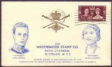 GREAT BRITAIN FIRST DAY COVER : 1937 Coronation Westminster illustrated cover cancelled by London WC machine cancel 13th May 1937