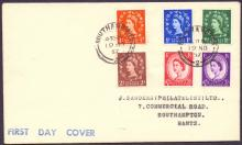 GREAT BRITAIN FIRST DAY COVER : 1957 Graphites set on plain cover used on first day of issue 19th Nov 1957. Cat £40