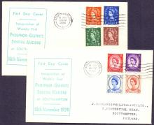 GREAT BRITAIN FIRST DAY COVER : 1959 Graphites set of 8 on pair of matching semi illustrated covers on first day of issue 18th November 1959 Cat £130