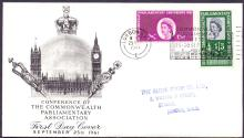GREAT BRITAIN FIRST DAY COVER : 1961 Parliament illustrated FDC cancelled by the Parliament special handstamp dated 25th Sept 1961 Cat £75