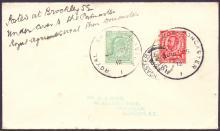 GREAT BRITAIN POSTAL HISTORY 1912 Royal Show, Doncaster skeleton postmarks on envelope, sent under cover to the Postmaster at Royal Agricultural Show, Doncaster. Rare!