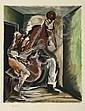 ZADKINE Ossip (1890-1967) Contre-bassiste.