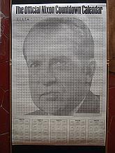 1973-NIX-001-01 Robert Cenedella   Official 1973 Nixon Countdown Poster Affiche originale, première édition d'époque Bon état (quelques traces de pliures) 88,5 x 59 cm
