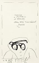 Alechinsky Pierre (Né en 1927)   L?homme aux grosses lunettes, 1989