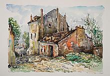 LAVOINE  Robert L.P. (1916-1999)   Montmartre, la maison de Mimie Pinson