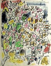 GEN PAUL  (Eugène PAUL, dit - 1895-1975)   Clowns musiciens 1958