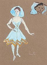 FINI LEONOR (1908-1996)   Danseuse à la robe bleue