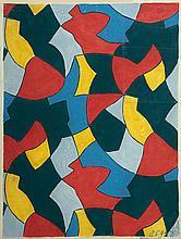POLIAKOFF Serge (1900 - 1969)   PROJET POUR TISSU, 1946