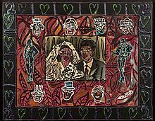 COMBAS ROBERT (Né en 1957)   Couple de mariés