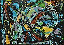 LANSKOY ANDRé (1902-1976)   Composition sur fond noir