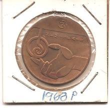 1968  250th Anniversary  of San Antonio , Bronze  Token