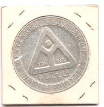 1970 Wichita Centennial Silver  Token