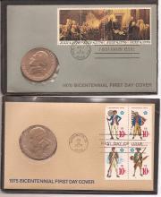 American Revolution Bicentennial Commenorative Medal/FDC x 5