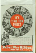 1935 Pabst Blue Ribbon NFL Official Schedule Poster Fea