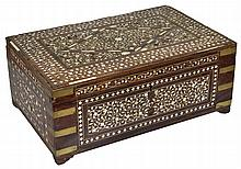 ˜A HOSHIARPUR WORK BOX, PUNJAB, NORTH-WESTERN INDIA, CIRCA 1900