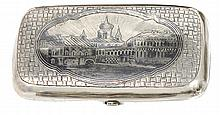 A RUSSIAN SILVER CHEROOT CASE, MAKER'S MARK IA (IN CYRILLIC), MOSCOW, 1886