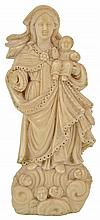 ˜AN INDO-PORTUGUESE IVORY MADONNA AND CHILD, GOA, 18TH/19TH CENTURY