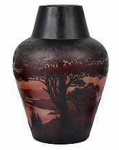 A FRENCH CAMEO GLASS VASE, PAUL NICOLAS 'D'ARGENTAL', 1920s