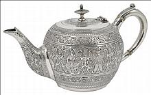 ˜A SCOTTISH VICTORIAN SILVER BACHELOR'S TEAPOT, JAMES REID & CO., GLASGOW, 1880