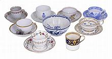 A GROUP OF ENGLISH PORCELAIN AND POTTERY, EARLY 19TH CENTURY AND LATER