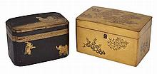 A JAPANESE GOLD LACQUER BOX, MEIJI PERIOD (1868-1912)