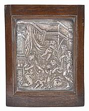 A GERMAN SILVER PANEL, MAKER'S MARK MN CONJOINED (UNRECORDED), AUGSBURG, 1624-28