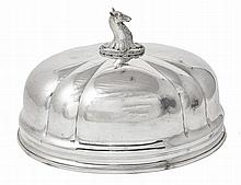A VICTORIAN ELECTROPLATE MEAT DISH COVER, CIRCA 1850