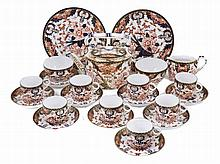 A CROWN DERBY IMARI PATTERN PART TEA SET, CIRCA 1884/85