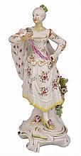 A DERBY FIGURE OF A RANELAGH DANCER, CIRCA 1765