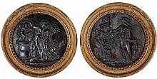 A PAIR OF FRENCH BRONZE ROUNDELS, CIRCLE OF CLAUDE MICHEL CALLED CLODION (1738-1814), PROBABLY PARIS, LATE 18TH/EARLY 19TH CENTURY