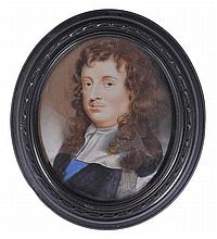 A PORTRAIT MINIATURE OF EDWARD MONTAGU FIRST EARL OF SANDWICH, ATTRIBUTED TO CHARLES BEALE (1660-1714), CIRCA 1680