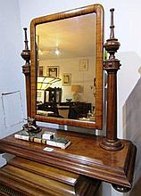 Antique Mahogany Dressing Table Mirror 30 Inches High x 28 Inches Wide In Good Condition