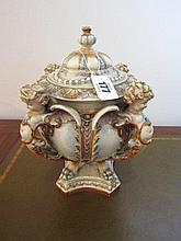 Nineteenth Century Capa Del Monte Centrepiece of Classical Form with Cherub Motifs