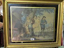 Gilt Framed Regency Morland Engraving 15 Inches x