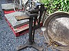 Victorian Metal Vice on Stand Height 41 Inches