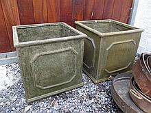 Pair of Planters Each 15 Inches High