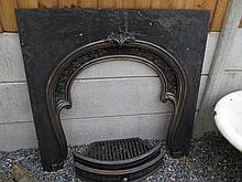 Cast Iron Fire Inset of Victorian Design 42 Inches