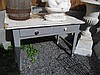 Antique Pine Two Drawer Kitchen Table