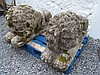 Antique Pair of Composite Stone Recumbent Lions