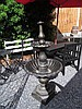 Cast Iron Two Tier Fountain on Shaped Pedestal
